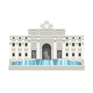 Fontana di Trevi Free PNG Illustration