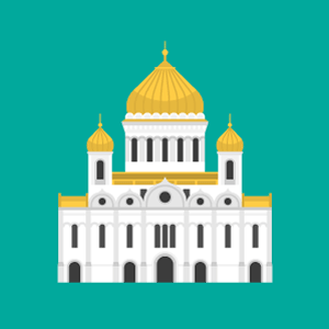 救世主ハリストス大聖堂の無料イラスト素材