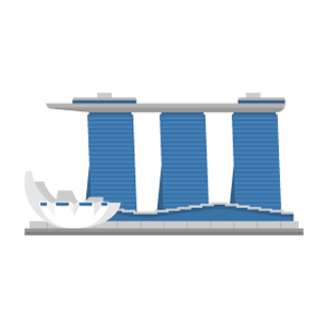 Marina Bay Sands Free Vector Illustration