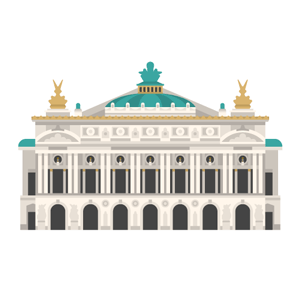 Palais Garnier Free PNG Illustration