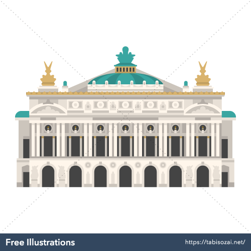 Palais Garnier(France) Free Vector Illustration