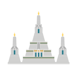 Wat Arun Free PNG Illustration