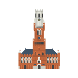 Belfry of Bruges Free PNG Illustration