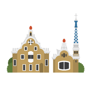 Park Güell Free PNG Illustration