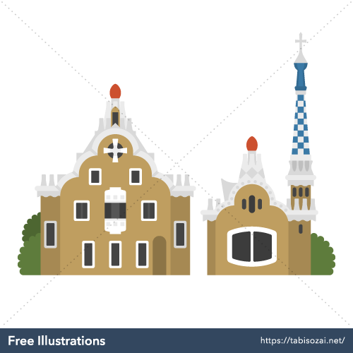 Park Güell Free Vector Illustration