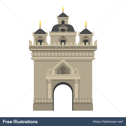 Patuxai Free Vector Illustration