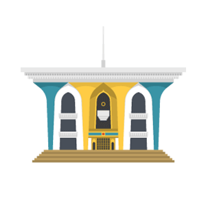 Al Alam Palace Free Vector Illustration