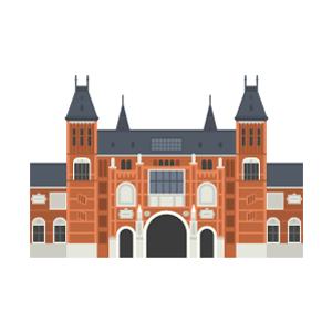 アムステルダム国立美術館の無料イラスト素材