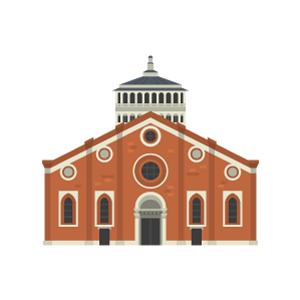 サンタ・マリア・デッレ・グラツィエ教会(ミラノ)の無料イラスト素材
