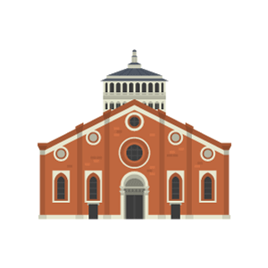 Santa Maria delle Grazie (Milan) Free Vector Illustration