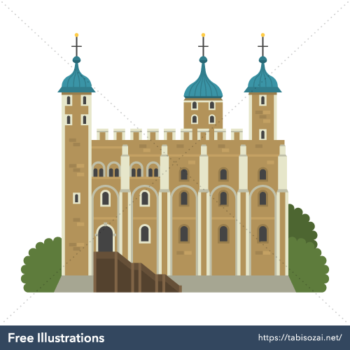 Tower of London(UK) Free Vector Illustration
