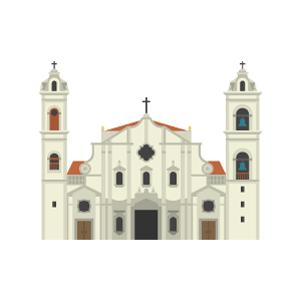 Havana Cathedral Free PNG Illustration