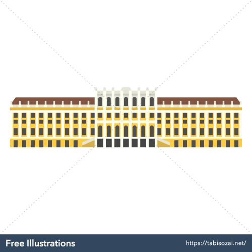 シェーンブルン宮殿の無料イラスト素材
