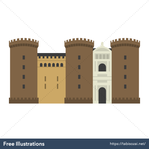 Castel Nuovo Free Vector Illustration