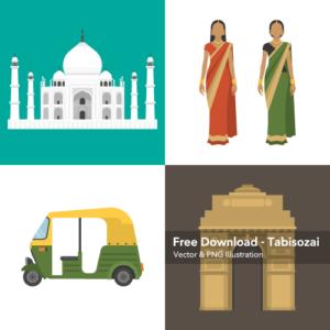 インドの無料イラスト素材