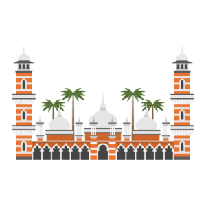 Masjid Jamek Mosque Free PNG Illustration