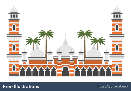 Masjid Jamek Mosque Free Illustration
