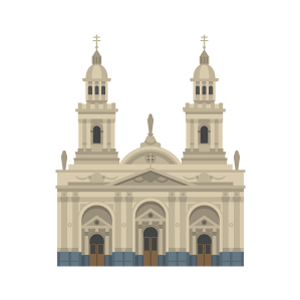 Santiago Metropolitan Cathedral Free PNG Illustration