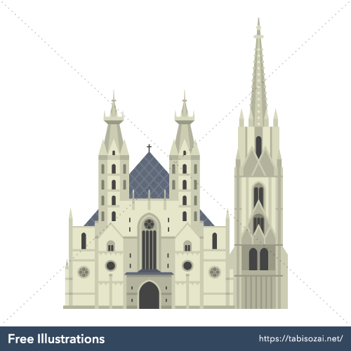 Stephansdom Free Vector Illustration