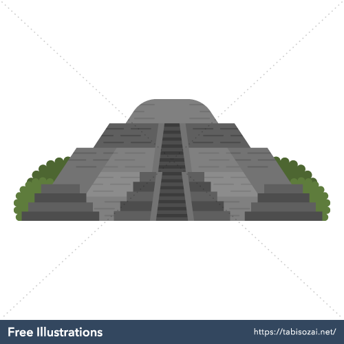 Teotihuacan Free Vector Illustration