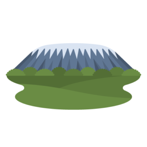 Mount Kilimanjaro Free PNG Illustration