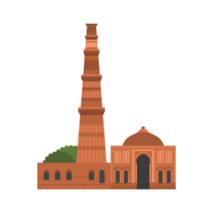 Qutb Minar Free Vector Illustration