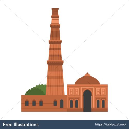 Qutb Minar Free PNG Illustration