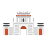 Temple of Literature Van Mieu Illustration