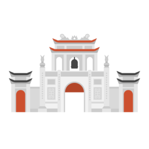 Temple of Literature Van Mieu Free Vector Illustration
