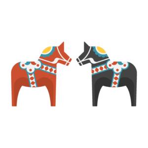 Dala horse Free PNG Illustration