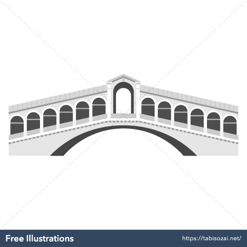 Rialto Bridge Free Vector Illustration