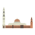 Sultan Qaboos Grand Mosque Illustration