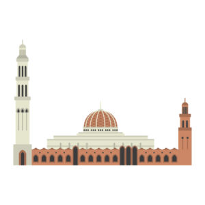 Sultan Qaboos Grand Mosque Free Vector Illustration