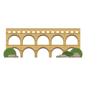 Pont du Gard Free PNG Illustration