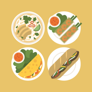 Vietnamese food Free PNG Illustration
