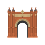 Arco de Triunfo Barcelona Illustration