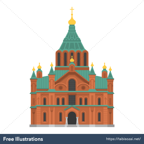 Uspenski Cathedral Free Vector Illustration