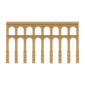 Acueducto de Segovia Free PNG Illustration