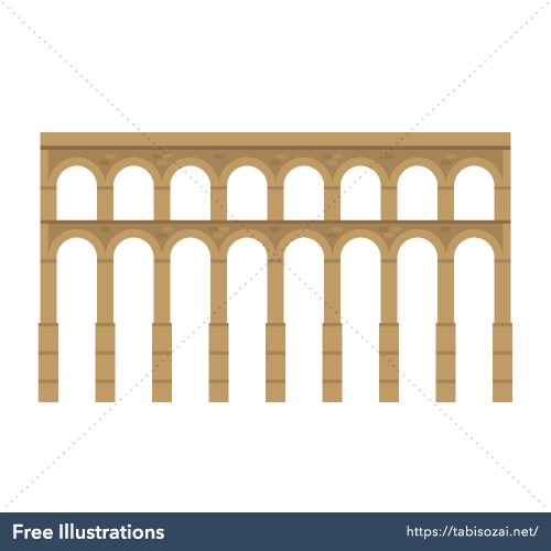 Acueducto de Segovia Free Vector Illustration