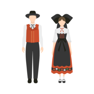 Alsace Costume Free PNG Illustration