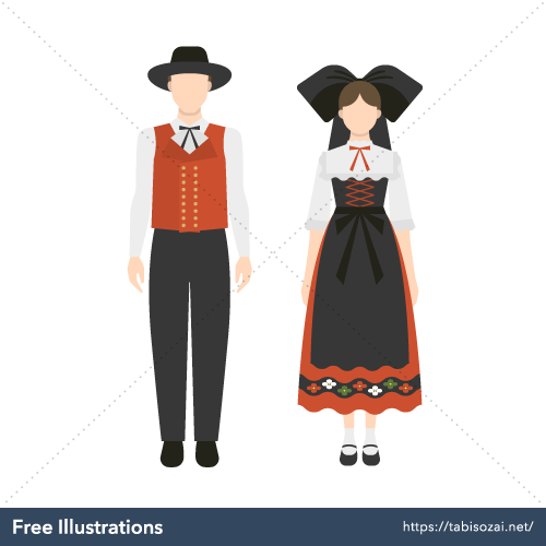 Alsace Costume Free Illustration