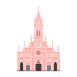 Da Nang Cathedral Illustration