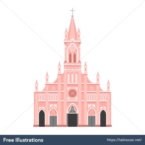 Da Nang Cathedral Free Vector Illustration