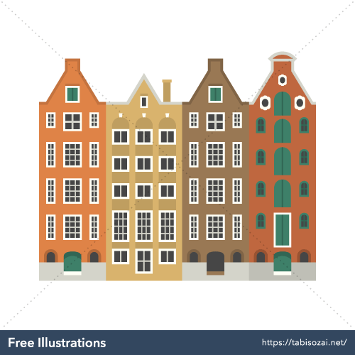 Amsterdam Free PNG Illustration