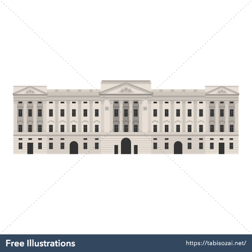 Buckingham Palace Free Vector Illustration