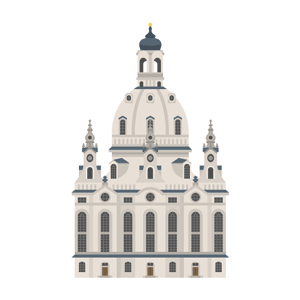 Dresdner Frauenkirche Free PNG Illustration