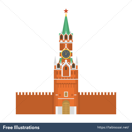 Moscow Kremlin Free Illustration