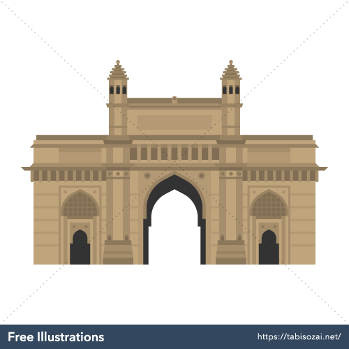 Gateway of India Free PNG Illustration