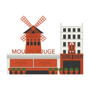 Moulin Rouge Free PNG Illustration