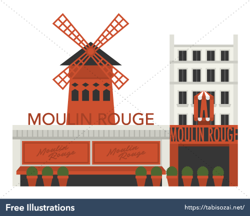 Moulin Rouge Free Vector Illustration